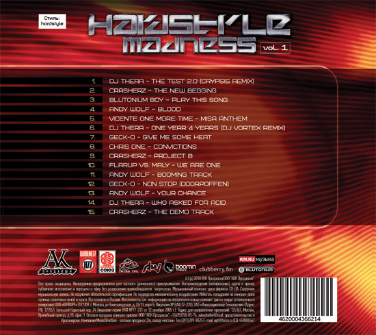Hardstyle Madness vol.1 Back